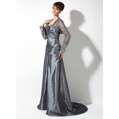flattering mother of the bride dresses for plus size tea length