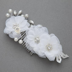 """Combs & Barrettes Wedding/Special Occasion/Party Imitation Pearls/Artificial Silk 6.89""""(Approx.17.5cm) 2.95""""(Approx.7.5cm) Headpieces"""