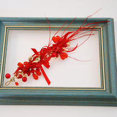 """Hairpins Wedding/Special Occasion Alloy/Feather/Satin 4.72""""(Approx.12cm) 1.97""""(Approx.5cm) Headpieces"""