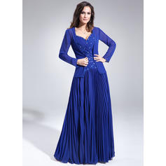 A-Line/Princess Sweetheart Floor-Length Mother of the Bride Dresses With Ruffle Beading