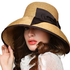 Rattan Straw With Bowknot Straw Hat Beautiful Ladies' Hats