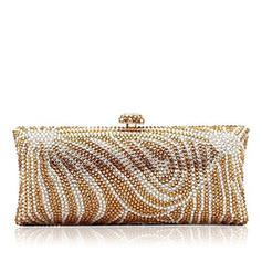"Clutches/Luxury Clutches Wedding/Ceremony & Party/Casual & Shopping Crystal/ Rhinestone/Alloy Elegant 7.87""(Approx.20cm) Clutches & Evening Bags"