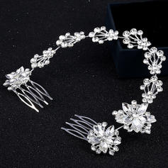 """Combs & Barrettes Alloy 10.63""""(Approx.27cm) 2.36""""(Approx.6cm) Rhinestone Headpieces"""