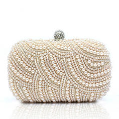 Clutches Wedding/Ceremony & Party Satin/Pearl Clip Closure Gorgeous Clutches & Evening Bags