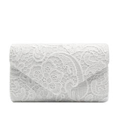 Clutches/Luxury Clutches Wedding/Ceremony & Party/Casual & Shopping/Office & Career Lace Snap Closure Elegant Clutches & Evening Bags