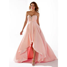 Empire Sweetheart Asymmetrical Prom Dresses With Ruffle Beading Sequins (018211486)