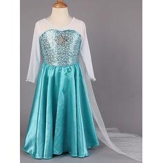 A-Line/Princess Scoop Neck Floor-length With Beading Chiffon/Taffeta Flower Girl Dresses