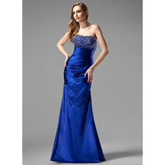 Trumpet/Mermaid Sweetheart Floor-Length Evening Dresses With Ruffle Beading Sequins (017004431)