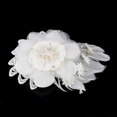 """Combs & Barrettes Wedding Imitation Pearls/Feather/Lace/Chiffon 7.48""""(Approx.19cm) 5.91""""(Approx.15cm) Headpieces"""
