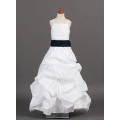 Princess A-Line/Princess Flower Girl Dresses Floor-length Taffeta Sleeveless