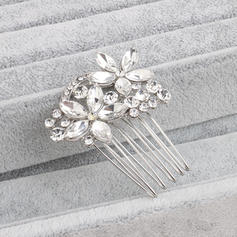 """Combs & Barrettes Wedding/Special Occasion Rhinestone/Alloy 1.69""""(Approx.4.3cm) 1.97""""(Approx.5cm) Headpieces"""