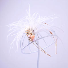 """Tiaras Wedding/Special Occasion/Party Alloy/Feather 5.91""""(Approx.15cm) 5.91""""(Approx.15cm) Headpieces"""