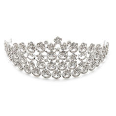 "Tiaras Wedding/Special Occasion/Party Rhinestone/Alloy 11.02""(Approx.28cm) 2.76""(Approx.7cm) Headpieces"