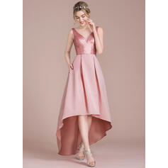 rose champagne bridesmaid dresses