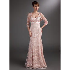 Trumpet/Mermaid Sweetheart Floor-Length Mother of the Bride Dresses With Ruffle Beading Sequins