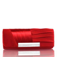 Clutches Ceremony & Party Satin Magnetic Closure Gorgeous Clutches & Evening Bags