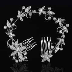 """Combs & Barrettes Wedding/Special Occasion Rhinestone/Alloy 10.63""""(Approx.27cm) 2.37""""(Approx.6cm) Headpieces"""