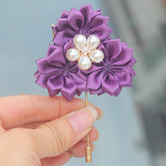 """Boutonniere Free-Form Wedding/Party Satin 2.76"""" (Approx.7cm) Wedding Flowers"""