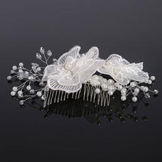 """Combs & Barrettes Wedding Crystal/Imitation Pearls/Lace 5.91""""(Approx.15cm) 5.91""""(Approx.15cm) Headpieces"""