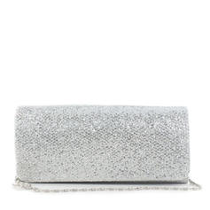 Clutches Wedding/Ceremony & Party Silk Magnetic Closure Shining Clutches & Evening Bags