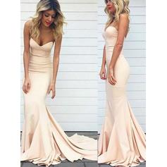 Trumpet/Mermaid Sweetheart Sweep Train Prom Dresses (018148509)