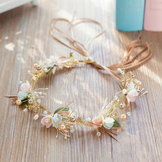 "Headbands Wedding/Party Rhinestone/Imitation Pearls/Silk Flower 13.78""(Approx.35cm) 1.97""(Approx.5cm) Headpieces"