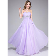 Empire Sweetheart Floor-Length Prom Dresses With Ruffle Beading Sequins (018042714)