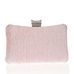 Clutches/Wristlets/Bridal Purse/Fashion Handbags/Makeup Bags/Luxury Clutches Wedding/Ceremony & Party/Casual & Shopping/Office & Career Satin Snap Closure Elegant Clutches & Evening Bags