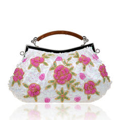 Clutches/Wristlets/Totes/Bridal Purse/Fashion Handbags/Makeup Bags/Luxury Clutches Wedding/Ceremony & Party/Casual & Shopping/Office & Career Lace Snap Closure Elegant Clutches & Evening Bags