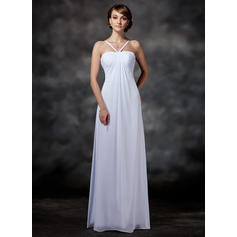 Princess Halter Empire Wedding Dresses Floor-Length Chiffon Sleeveless