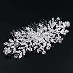 """Combs & Barrettes Wedding/Special Occasion Rhinestone/Alloy 3.94""""(Approx.10cm) 2.37""""(Approx.6cm) Headpieces"""