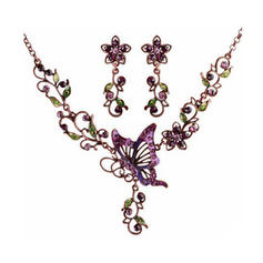 Jewelry Sets Alloy/Czech Stones/Coloured Glaze Lobster Clasp Pierced Ladies' Wedding & Party Jewelry