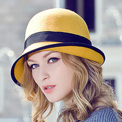 Wool Bowler/Cloche Hat Beautiful Ladies' Adjustable Hats