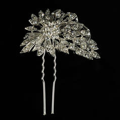 """Hairpins Wedding/Special Occasion/Casual/Outdoor/Party Rhinestone/Alloy 2.95""""(Approx.7.5cm) 2.36""""(Approx.6cm) Headpieces"""