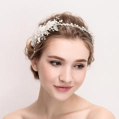 """Tiaras Wedding/Special Occasion/Party Crystal/Alloy/Imitation Pearls/Silk Flower 13.97""""(Approx.35.5cm) 3.55""""(Approx.9cm) Headpieces"""
