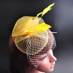 "Hats Wedding/Special Occasion/Party Feather/Cotton 7.09""(Approx.18cm) 7.09""(Approx.18cm) Headpieces"