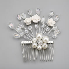 """Combs & Barrettes Wedding/Special Occasion/Party Alloy/Imitation Pearls 3.94""""(Approx.10cm) 3.94""""(Approx.10cm) Headpieces"""