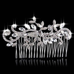 """Combs & Barrettes Wedding/Special Occasion/Party Rhinestone/Alloy 3.94""""(Approx.10cm) 2.36""""(Approx.6cm) Headpieces"""