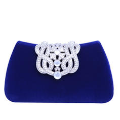 Clutches/Fashion Handbags Wedding/Ceremony & Party Crystal/ Rhinestone/Flannelette Material Snap Closure Fashional Clutches & Evening Bags