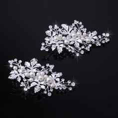 """Hairpins Wedding/Special Occasion Rhinestone/Alloy 3.94""""(Approx.10cm) 2.17""""(Approx.5.5cm) Headpieces"""