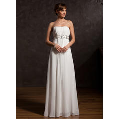 Empire Sweetheart Floor-Length Mother of the Bride Dresses With Ruffle Beading