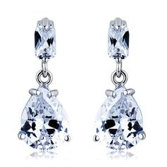 Earrings Alloy/Cubic Zirconia Pierced Ladies' Nice Wedding & Party Jewelry