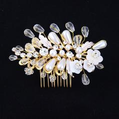 "Combs & Barrettes Wedding Crystal/Alloy/Imitation Pearls 3.94""(Approx.10cm) 2.76""(Approx.7cm) Headpieces"
