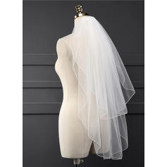 Waltz Bridal Veils Tulle Two-tier Classic With Scalloped Edge Wedding Veils