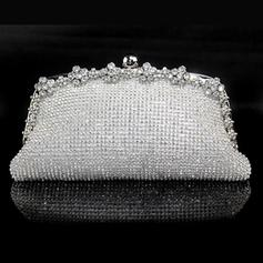 Clutches Wedding/Ceremony & Party Crystal/ Rhinestone Clip Closure Rhinestone Style Clutches & Evening Bags