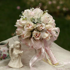 """Bridal Bouquets Round Wedding/Party Satin 9.84""""(Approx.25cm) Wedding Flowers"""
