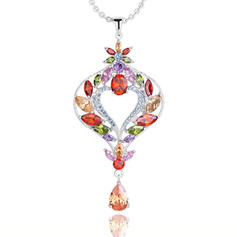 "Necklaces Zircon/Platinum Plated Beautiful 19.69""(Approx.50cm) 2.76""(Approx.7cm) Wedding & Party Jewelry"