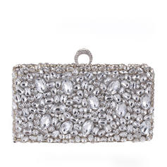 Fashion Handbags Ceremony & Party Crystal/ Rhinestone Clip Closure Gorgeous Clutches & Evening Bags