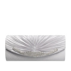 Clutches/Luxury Clutches Wedding/Ceremony & Party/Casual & Shopping/Office & Career Satin/Silk Magnetic Closure Elegant Clutches & Evening Bags