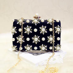 "Clutches/Satchel/Totes Wedding/Ceremony & Party PU Kiss lock closure 7.09""(Approx.18cm) Clutches & Evening Bags"